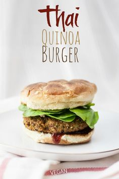 An easy Thai-influenced vegan veggie burger that stays together, bakes up nice and crispy, and packs a big protein punch!