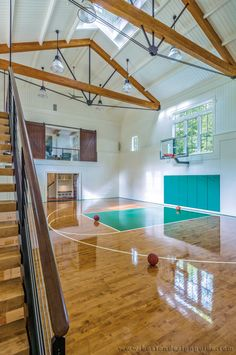 Barn for a personal indoor basketball court.   MGa | Marcus Gleysteen Architects, Photo by Richard Mandelkorn