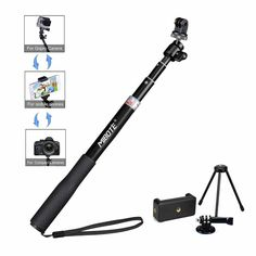 Telescoping Selfie Stick Tripod Stand Monopod for Gopro Hero and Manufacturer - Mibote, EAN - Color - Extendable, Dimensions - x x Package Dimensions - x x Weight (lbs) - Package Weight (lbs) - Category - Tripods Monopods, UPC - 611536165097 Modern Tools, Gopro Hero 5, Photo Bag, Camera Tripod, Video Capture, Selfie Stick, Leica, Ukulele