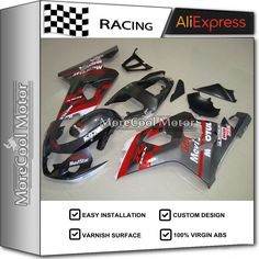 For Suzuki GSX-R600 750 K4 2004 04 05 Motorcycle ABS Bodywork New Injection Mold Fairings #Affiliate