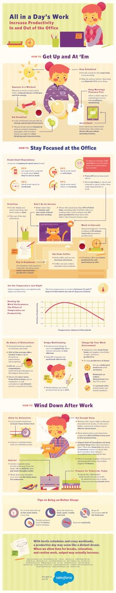 Way to Increase Productivity Infographic #Infographics