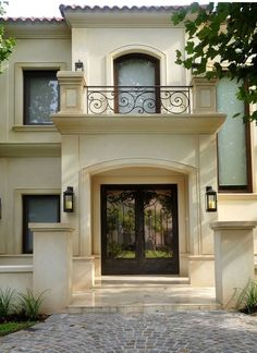 Explore exterior photos for a variety of architectural designs, exterior house colours, cladding options and more home exterior ideas. House Colors, House Designs Exterior, House Design, New Homes, Mediterranean Homes, House Plans, Exterior Design, Beautiful Homes, House Exterior