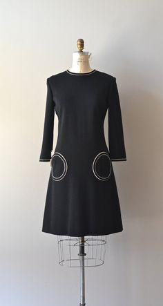Metropolois dress vintage 1960s dress mod wool by DearGolden