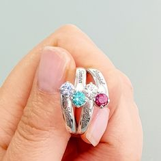 Birthstones by Month 💎 Venice 4 Gem Ring 💎 12 birthstones by month 💎 4 Engraving Areas 💎 Available in 925 Sterling Silver, Gold or Rose Gold Plating. Or Rose, Rose Gold, Birthstones By Month, Name Rings, Italian Jewelry, Gold Plating, Venice, 18k Gold, Sapphire