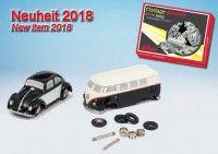 Piccolo VW T1 Bulli Bus und VW Käfer als Montagekasten