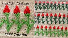 Crochet rose stitch  Tutorial with pattern (English version) - YouTube