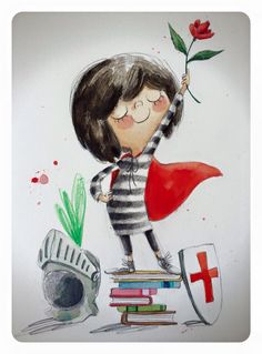 Rocio Bonilla. Sant Jordi 2016 Creative Book Covers, Baby Illustration, Saint George, Book Images, Artist Trading Cards, Illustrations And Posters, Cute Drawings, Book Design, Childrens Books
