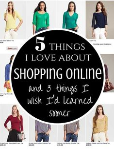 5 things I love about shopping online, and 3 things I wish I'd learned sooner