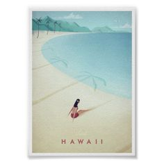 Hawaii vintage travel poster of a retro girl sunbathing on a beach. Original Hawaii vintage travel poster by Henry Rivers. Buy a premium art print! Retro Poster, Poster Vintage, Vintage Travel Posters, Poster On, Art Posters, Poster Wall, Illustrations Posters, Movie Posters, Vintage Hawaii
