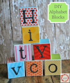 A Glimpse Inside: DIY Alphabet Blocks