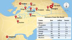 Water tours to ancient towns close to shanghai