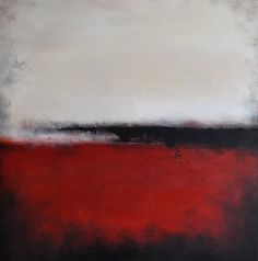 """Abstract 130 Original Abstract Painting, Modern Landscape 16""""x16"""". $250.00, via Etsy."""