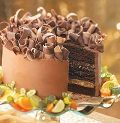 Chocolate turtle cake.