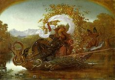 Cymochles and Phaedria Crossing the Idle Lake in an Enchanted Boat by Sir Joseph Noel Paton (Scottish 1821-1901)