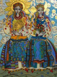 Ukrainian Reverse Glass Painting