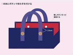 ふだん使いに便利な、ちょっと持ちバッグの作り方(その3) - 手作りを楽しもう てづくり*てづくり