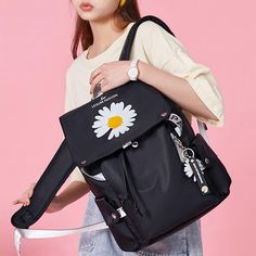 Fashionable Backpacks For School, Best Backpacks For School, Trendy Backpacks, All Black Backpack, Black Backpack School, Black Leather Backpack, Popular Backpack Brands, Backpack Outfit, Fashion Backpack