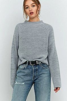 BDG High Neck Ribbed Fisherman Jumper #UrbanOutfitters #UOEurope