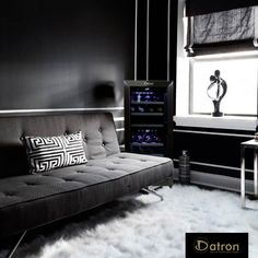 Choose a new Datron wine cooler for your living minimal in shades of gray. Wine Cooler, Stainless Steel Frame, Dual Zone Wine Cooler, Furniture, Plywood Shelves, Door Handles, Cooler, Wine Away, Wine Cellar