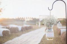 landelijke bruiloft versiering