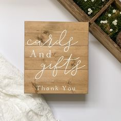 Wedding In The Woods, On Your Wedding Day, Rustic Feel, Rustic Style, Painted Letters, Hand Painted, Country Barn Weddings, Wood Wedding Signs, Gift Table