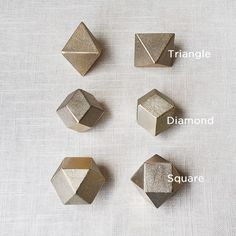 Polyhedron Brass Paper Weights  A collaboration between designer Oji Masanori and 114-year old Japanese foundry Futagami.