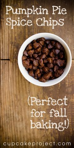 Pumpkin Pie Spice Chips – Perfect for Fall Baking by Cupcake Project