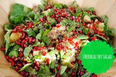 Überhealthy salad met gepofte aubergine   De Groene Meisjes