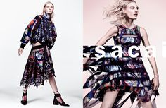 cool Julia Nobis returns as the face of Sacai Spring 2016 campaign shot by Craig McDean  [campaign]