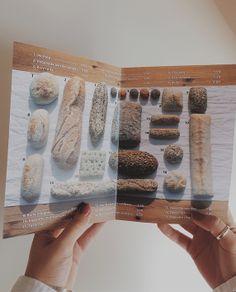 Carta de panes. Bread menu. #bakery #bread #restaurant #design @Sara González