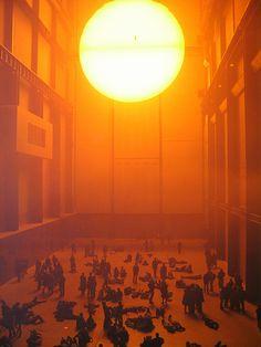 Olafur Eliasson's Sun installation at Tate Modern