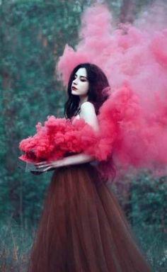 Smoke Bomb Photography, Fantasy Photography, Creative Photography, Portrait Photography, Fashion Photography, Woman Photography, Photography Lighting, Photography Magazine, Amazing Photography