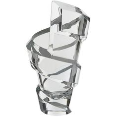 Baccarat Large Spirale Crystal Vase ($890) ❤ liked on Polyvore featuring home, home decor, vases, contemporary home decor, czech crystal vase, crystal vase, crystal home decor and spiral vase