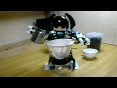 Cute Little Robot Makes Coffee