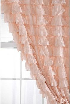 this was my plan for my own shower curtain... then i was racking my brain about curtains for emmas room... hello!? everything is going to be ruffles and rosettes, how did i now think of this sooner?!