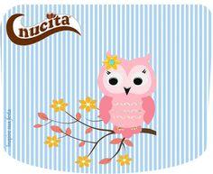 Corujinha Rosa e Azul Kit festa grátis para imprimir – Inspire sua Festa ®