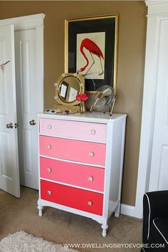 Dwellings By DeVore: Ombre Dresser Makeover