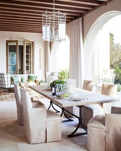"""This Montecito estate masters indoor-outdoor space. | Photo: @maxkimbee, Design: Richard Hallberg"""