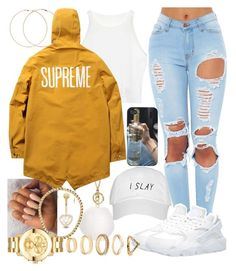 """Supreme"" by lilmama1250 ❤ liked on Polyvore featuring MICHAEL Michael Kors, Forever 21, NIKE, Gioelli Designs and Movado"