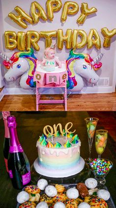 Unicorn Birthday Party- how to host an adorable Unicorn Birthday Party. Everything you need including decor and food ideas!