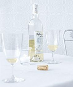 Use wax pencil to write names on wine glasses prior to party