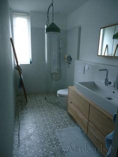 Portugese tegels van floorz zijn ook geschikt voor het gebruik in een badkamer badkamer - Badkamer tegel cement ...