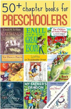 50+ Chapter Books to read aloud to  Preschoolers and 3 Year Olds