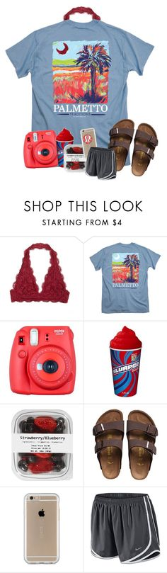 """Feels like red"" by taryn24 ❤ liked on Polyvore featuring Fuji, Birkenstock, Speck, NIKE and Patagonia"