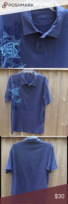 Men's Pima Cotton Polo Shirt Soft 100% Pima cotton polo shirt in like new condition. Hawaiian swordfish print on right side. Crazy Shirts logo on back below collar. Crazy Shirts Shirts Polos
