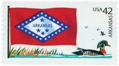 2008 42c Flags of Our Nation, Arkansas - Catalog # 4278 For Sale at Mystic Stamp Company
