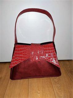 Sac Ava en similis rouges d'Ecirtaéb - Patron sac 50's Sacôtin