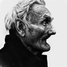 Lee Jeffries photograph of homeless old man