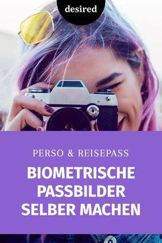 Ja, Passbilder sind ein leidiges Thema, denn meistens wird man nicht sonderlich gut getroffen. Genau das kannst du vermeiden und sogar Geld sparen, wenn du einfach deine biometrischen Passbilder selber machst. Das ist nicht ansatzweise so schwierig, wie du jetzt vielleicht denkst. Wir erklären dir Schritt für Schritt, worauf du achten musst. Viel Spaß beim Shooten!  #biometrischepassbilder #ausweis #fototipps Fitbit, Wanderlust, Passport Pictures, Passport, Reflex Camera, Photo Tips