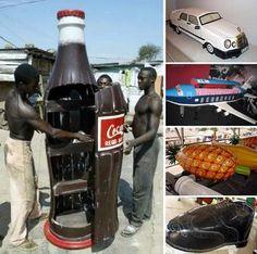 Figurative Ghanaian coffins